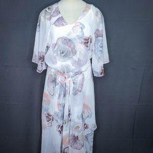City Chic Womens 2 Piece Dress Plus 24W Sheer